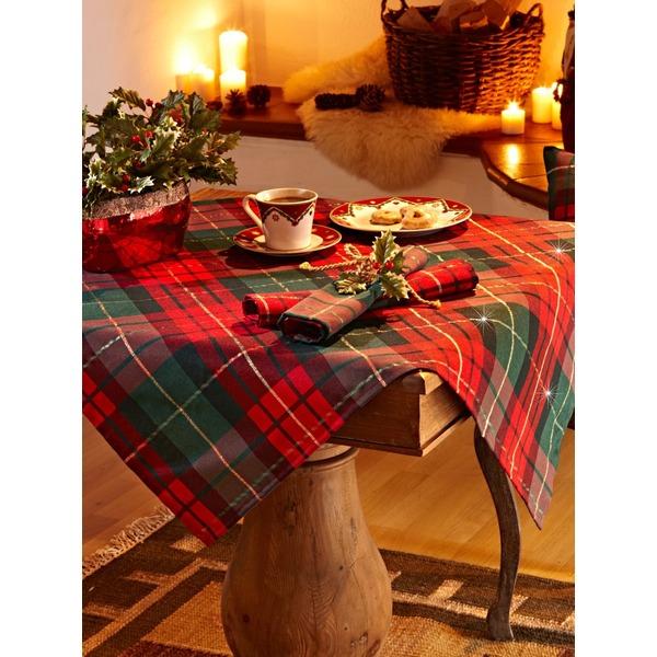 Tischdecke im Karo Design