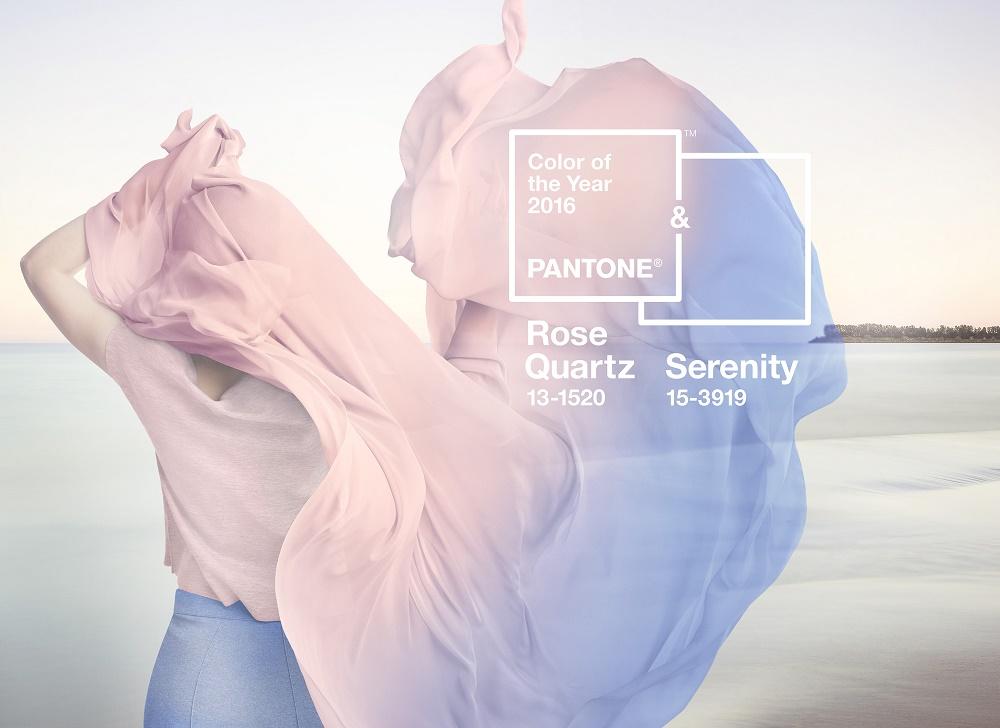 Farben des Jahres 2016 - Serenity & Rose Quartz Foto: Pantone