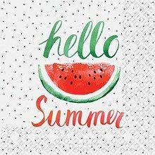 Servietten Prägung Text Sommer Party Melone
